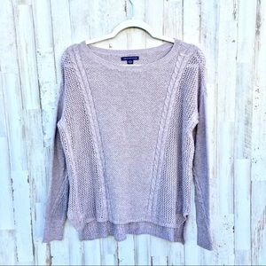 American eagle outfitters tan sweater size small